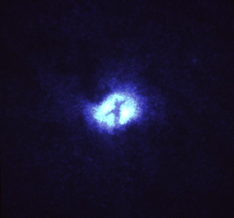 NASA photo -- Cross in center of universe
