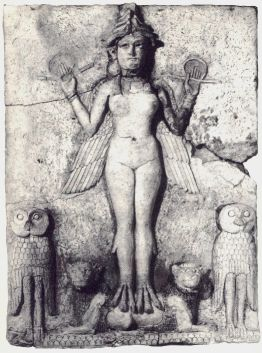 Terra-cotta image of demon Lilitu