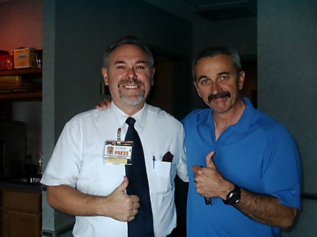 Tom Kovach in studio with Aaron Tippin
